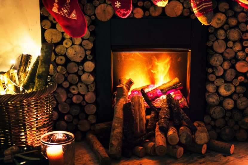 Navidad con leña