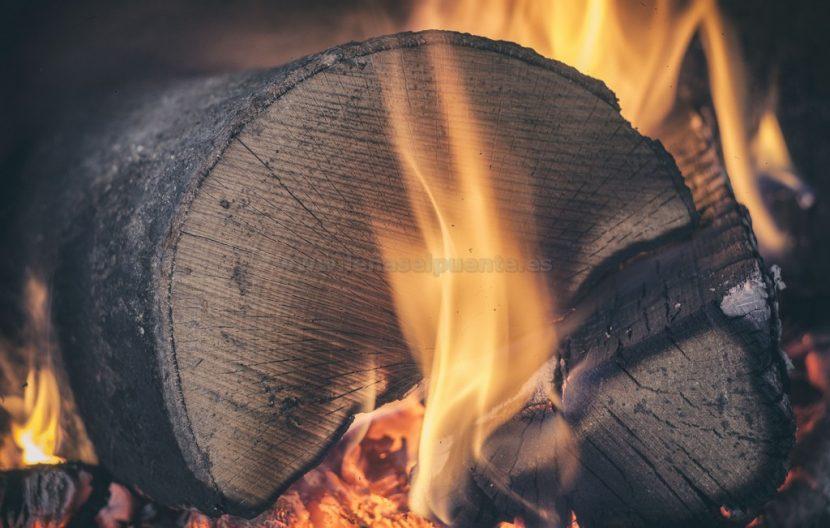 Tronco ardiendo